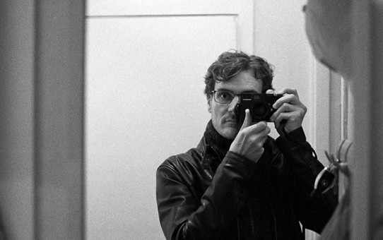 Selfie on HP5+ taken with a Leica MP and 35 Summilux FLE